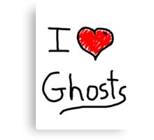 i love halloween ghosts Canvas Print