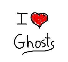 i love halloween ghosts Photographic Print