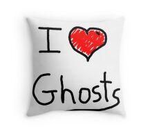 i love halloween ghosts Throw Pillow
