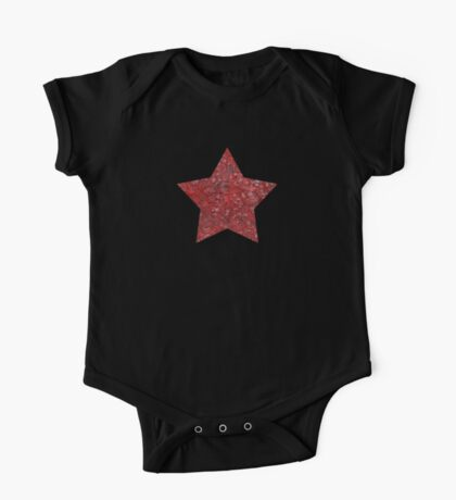 Red and black swirls doodles One Piece - Short Sleeve