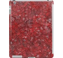Red and black swirls doodles iPad Case/Skin