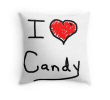 i love halloween candy  Throw Pillow