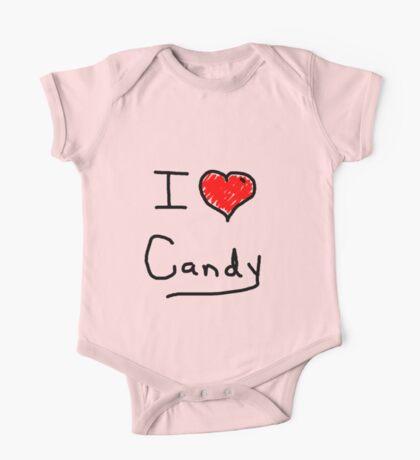 i love halloween candy  One Piece - Short Sleeve