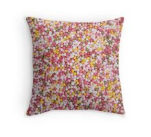 Round Sugar Sprinkles Throw Pillow