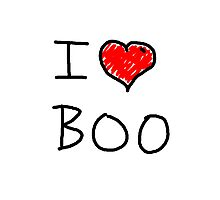 i love halloween boo Photographic Print