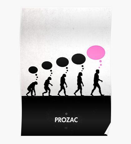 99 Steps of Progress - Prozac Poster