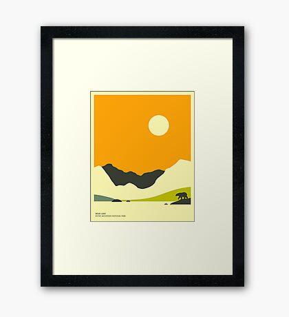 BEAR LAKE, ROCKY MOUNTAIN NATIONAL PARK Framed Print