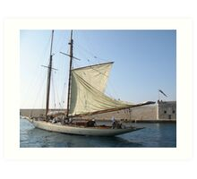 VELE D'EPOCA A CANNES - Vintage sailboats in Cannes - Francia - Europa---VETRINA RB EXPLORE 21 OTTOBRE 2012 --- Art Print