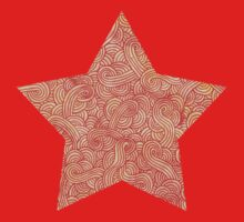 Orange and red swirls doodles One Piece - Short Sleeve