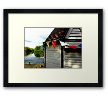 Boating Kiosk Framed Print