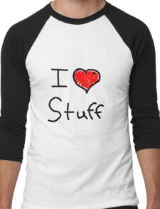 i love stuff  Men's Baseball ¾ T-Shirt