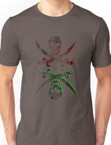 skull pirate vintage wash Unisex T-Shirt