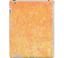 Ombre yellow and orange swirls doodles iPad Case/Skin