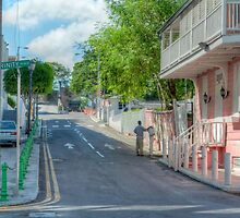 Market Street at Trinity Place in Downtown Nassau, The Bahamas by 242Digital