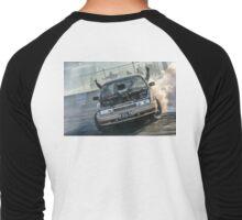 EX5LTR Tread Cemetery 2 Burnout Men's Baseball ¾ T-Shirt