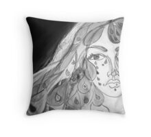 Tears of Beauty in Black & White Throw Pillow