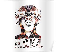 Jay Z HOVA- Floral Poster