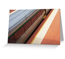 Lines One (Swanbourne Station) Greeting Card