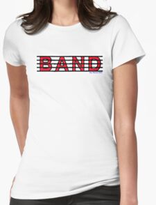 Band Red Womens Fitted T-Shirt