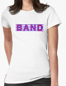 Band Red and Blue Womens Fitted T-Shirt