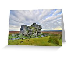 Dartmoor: Early Morning at South Hessary Tor Greeting Card