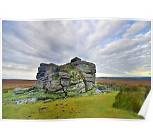 Dartmoor: Early Morning at South Hessary Tor Poster