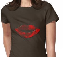 old lips Womens Fitted T-Shirt