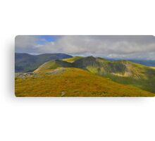 The Lake District: Heading to Hopegill Head Canvas Print