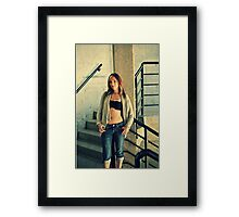 Cute Photo Shoot Framed Print