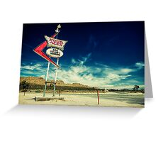 Mojave Desert Sign Greeting Card