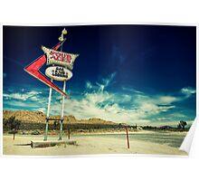 Mojave Desert Sign Poster