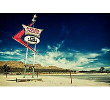 Mojave Desert Sign Photographic Print
