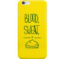 blood sweat and pie [green] iPhone Case/Skin