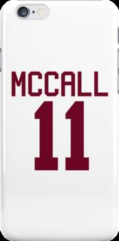 Scott McCall's Jersey - maroon/red text by sstilinski