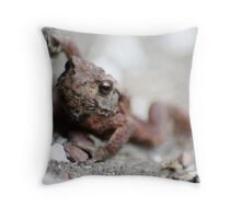 Small and Exceedingly Warty Throw Pillow