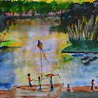 Afternoon at Waterford West Lagoon by Alison Pearce