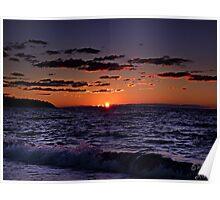 """""""Seaside Sundown"""" Poster"""