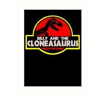 Billy and the cloneasaurus - The Simpsons Cartoon Art Print