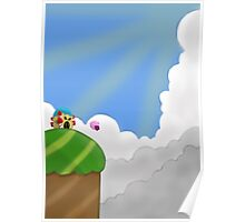 Kirby on Mt. Dedede Poster
