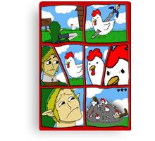 Cucco Wars Canvas Print