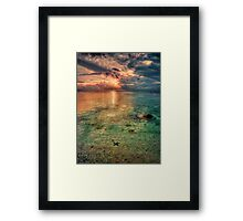 Starfish sunset Framed Print