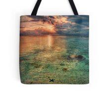 Starfish sunset Tote Bag