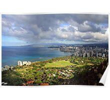 Diamond Head Lookout, Honolulu, Oahu, Hawai'i, USA Poster