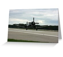 corsair F4u touchdown Greeting Card