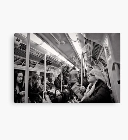 Riding the Tube - London - Britain Canvas Print