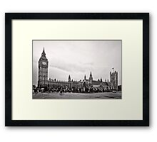 Big Ben and the Houses of Parliament - London - Britain Framed Print