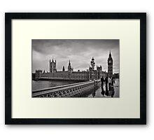 Walking to Westminster - London - Britain Framed Print
