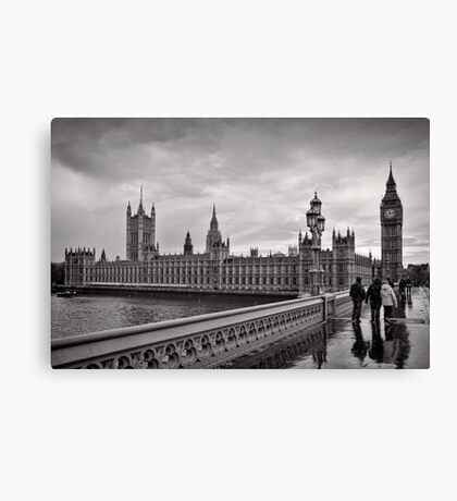 Walking to Westminster - London - Britain Canvas Print