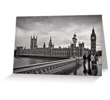 Walking to Westminster - London - Britain Greeting Card