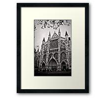 Dampened Faithful - Westminster - London - Britain Framed Print